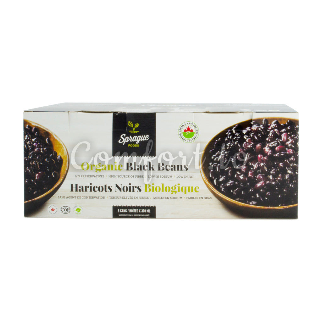 Sprague Organic Black Beans, 8 x 398 mL