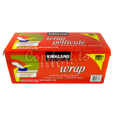 Kirkland Large Plastic Food Wrap, 3000 sq ft