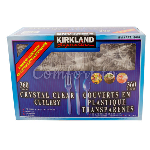 Kirkland Crystal Clear Cutlery, 360 pieces