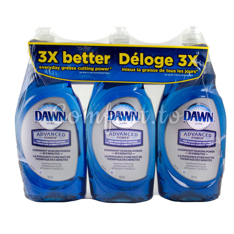 $2 OFF - Dawn Advanced Dishwashing Liquid Detergent, 3 x 0.7 L