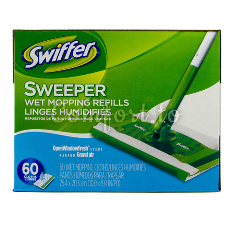 Swiffer Sweeper Wet Mopping Cloths, 60 cloths