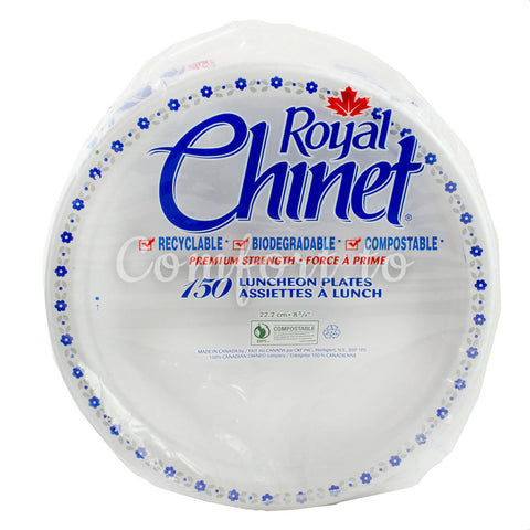 Roayl Chinet Luncheon Paper Plates, 150 plates