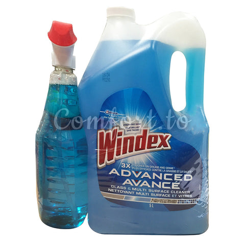 Windex Glass & Multi Purpose Cleaner, 2 x 3 L