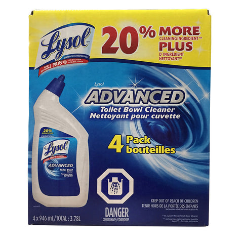Lysol Toilet Bowl Cleaner, 4 x 0.9 L