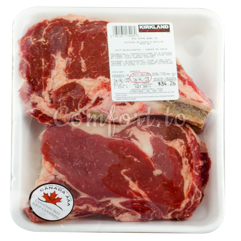Kirkland Beef Rib Steak Bone In, 1.3 kg