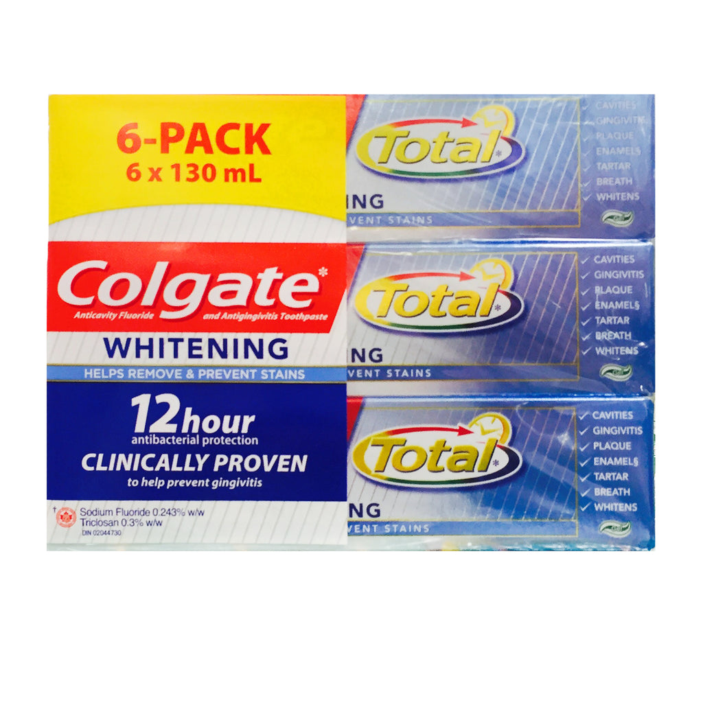 Colgate Total Toothpaste, 6 x 130 mL