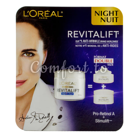 L'Oreal Revitalift Anti-Wrinkle Night Cream, 100 mL