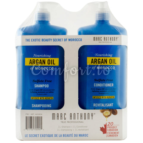 Marc Anthony Argan Oil of Morocco Shampoo & Conditioner, 2 x 1 L