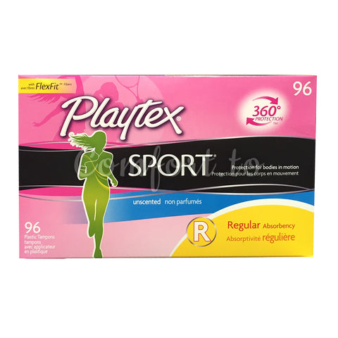 Playtex Sport Tampons Regular, 96 tampons