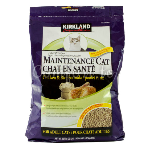 Kirkland Maintenance Cat Food for Adults - 9.1kg