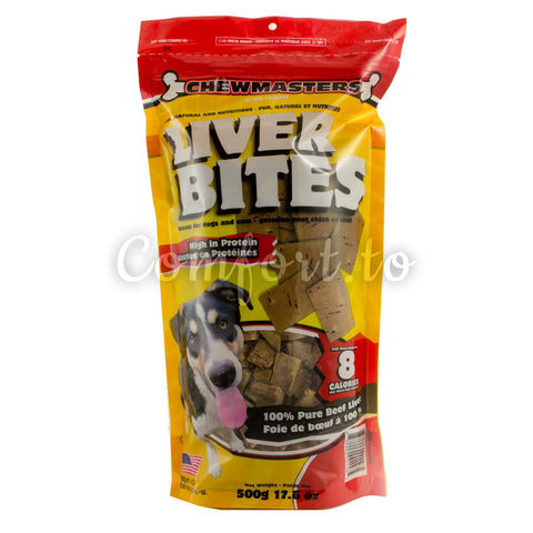 Chewmasters Liver Bites for Dogs, 500 g