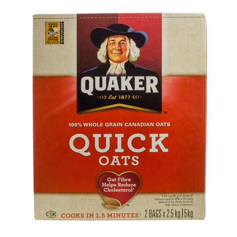 $2 OFF - Quaker Quick Oats, 2 x 2.5 kg