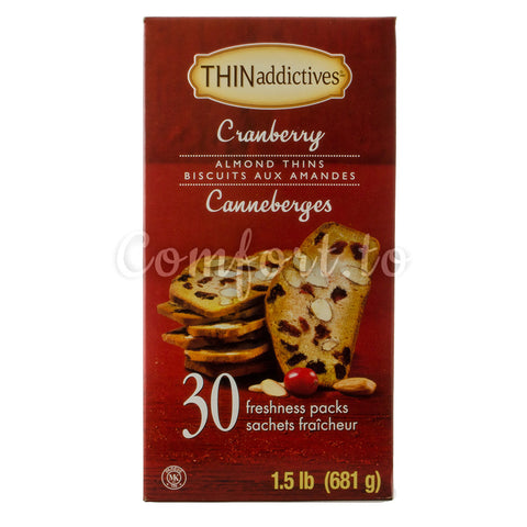 $3 OFF - THINaddictives Cranberry Almond Thins, 30 x 23 g
