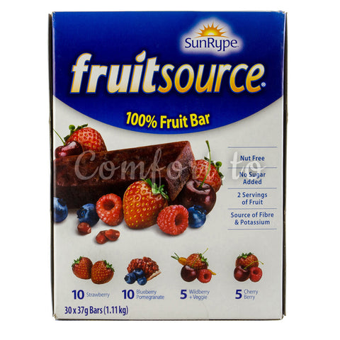 SunRype Fruitsource Fruit Bars, 30 x 37 g