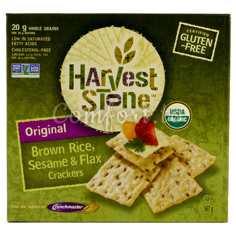 Organic Brown Rice, Sesame & Flax Crackers - 567g