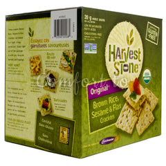 Harvest Stone Organic Brown Rice, Sesame & Flax Crackers - 567g