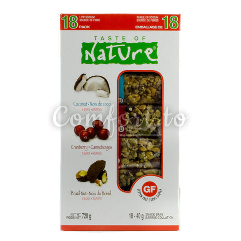 Taste of Nature Snack Bars, 18 x 40 g