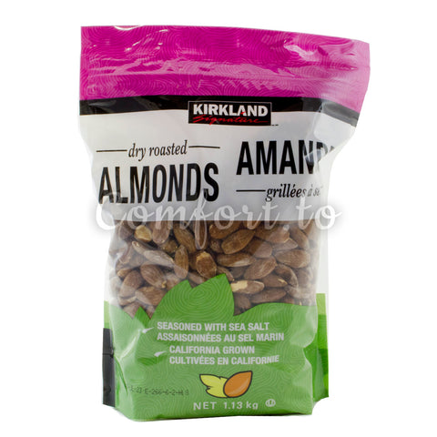 Kirkland Dry Roasted Almonds, 1.1 kg