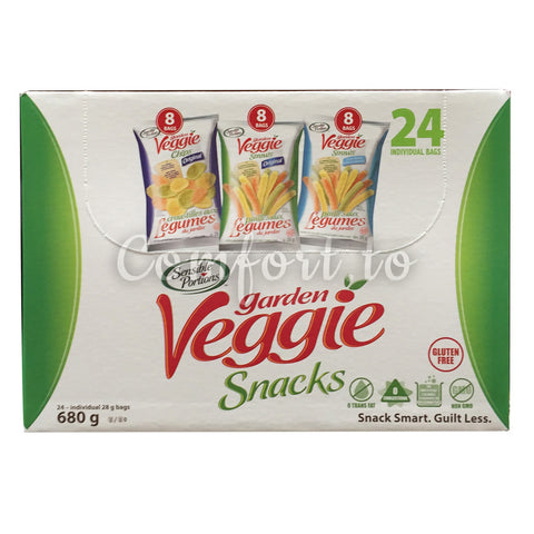 Sensible Portions Garden Veggie Snacks Variety Pack, 24 x 28 g