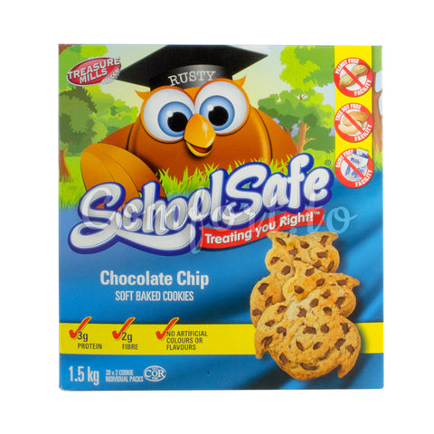 Treasure Mills School Safe Chocolate Chip Cookies, 30 x 50 g