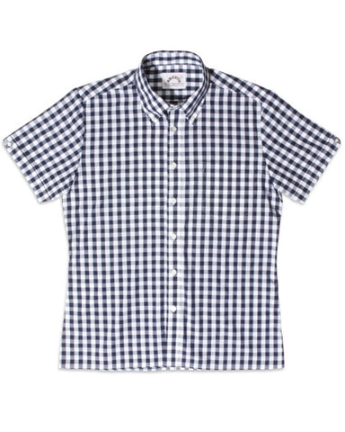 Brutus TRIMFIT Shirt Navy Blue Large Gingham
