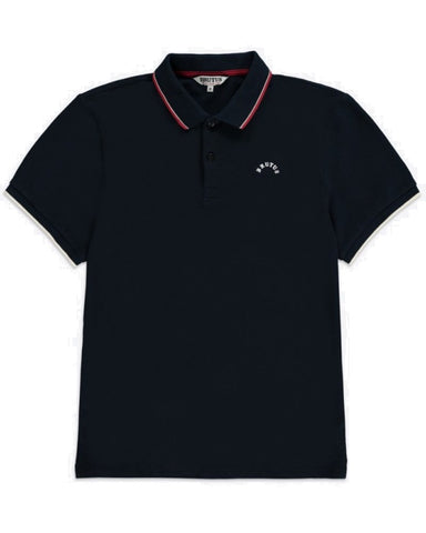 Brutus Classic Tipped Polo Shirt Navy