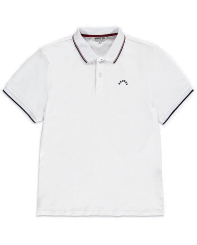 Brutus Classic Tipped Polo Shirt White
