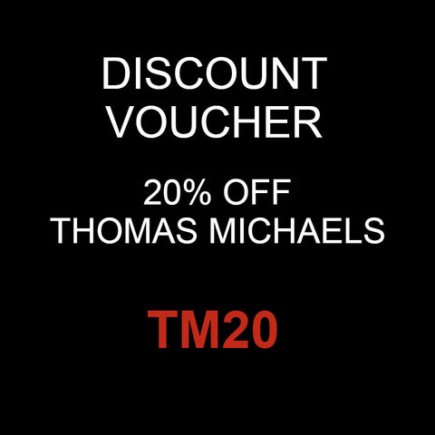 discount voucher 20% off thomas michaels mens grooming