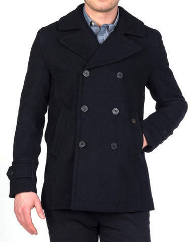 merc doyle pea coat black