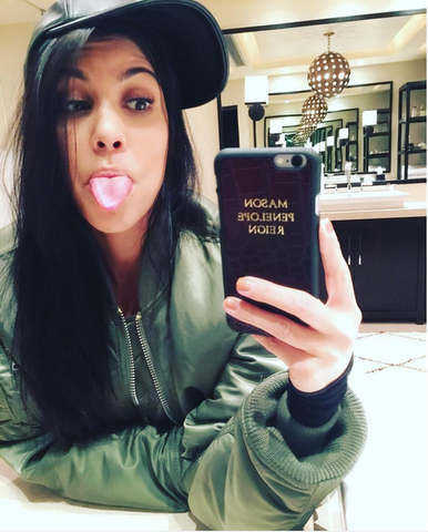Courtney Kardashian Wears Alpha Industries MA1