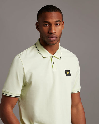 lyle and scott casuals, tipped polo shirt, lucid green