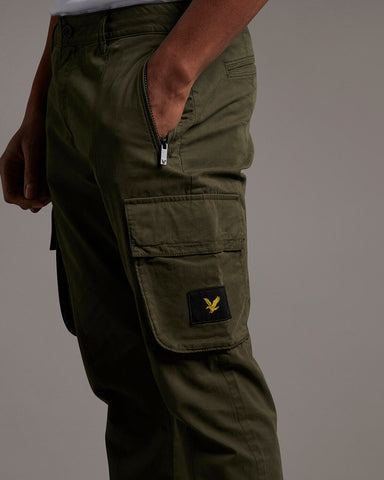 lyle and scott casuals, cargo trousers, trek green