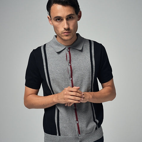 merc london PUTNEY polo knit