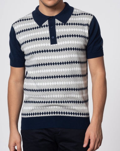 Merc London FARLEY Polo Shirt Navy