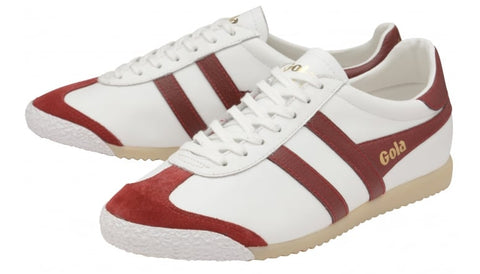 gola harrier 50 leather white/red