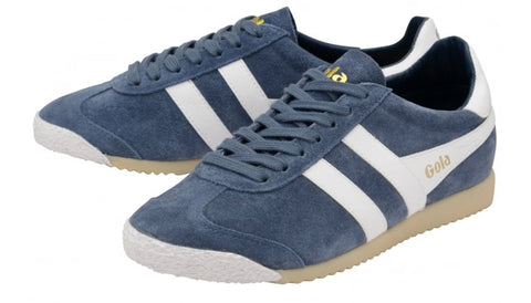 gola harrier 50 suede baltic/white