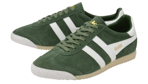 gola harrier 50 suede green/white