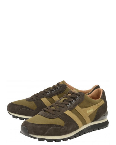 Gola Lowland Millerain Trainers Olive Brown