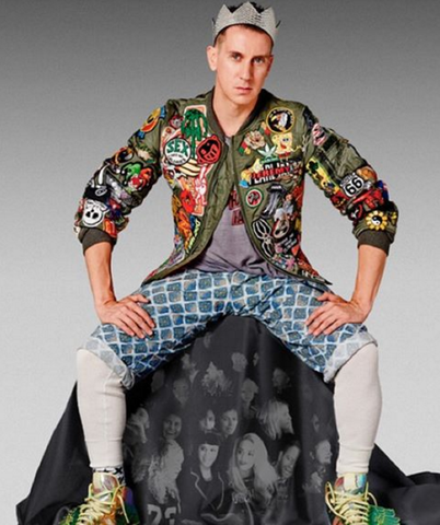 Jeremy Scott Wears Alpha Industries MA1