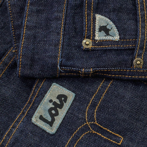 lois terrace tapered one wash denim