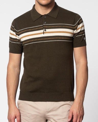 merc tanner polo shirt dark sage