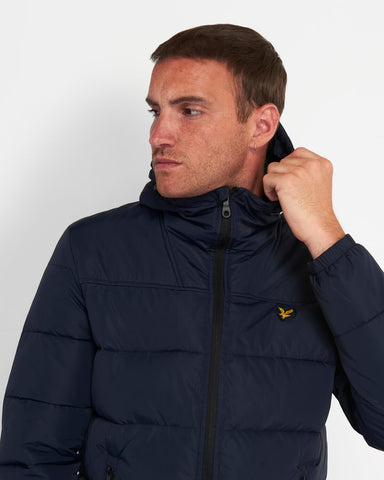 Lyle and Scott Wadded Jacket Dark Navy