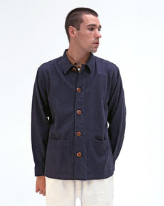 Far Afield BISSET LINEN JACKET Ensign Blue