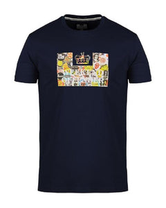 Weekend Offender T Shirt BADGES Navy