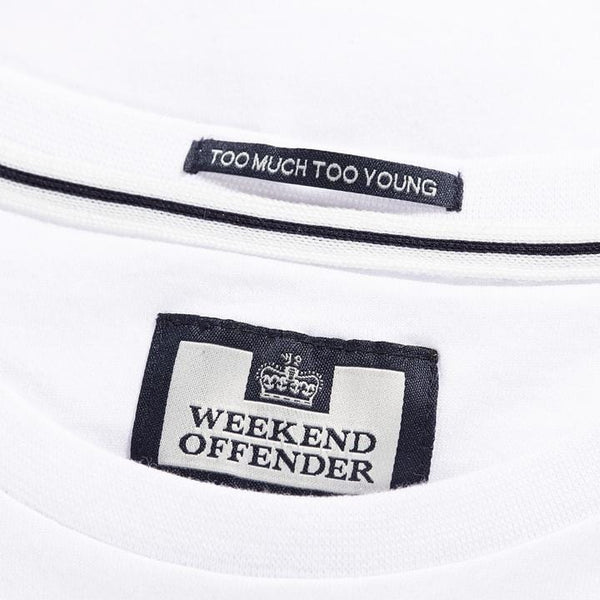 Weekend Offender T Shirt Definately Maybe White - indi menswear