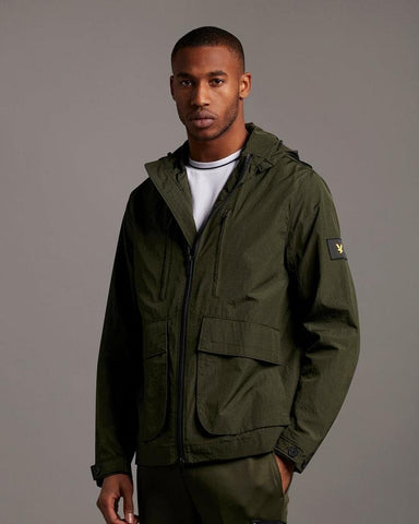 Lyle and Scott Casuals HOODED JACKET Trek Green