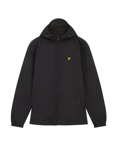 Lyle and Scott Zip Through Hooded Jacket Jet Black