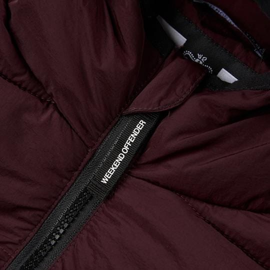 Weekend Offender LA GUARDAI Jacket Burgundy