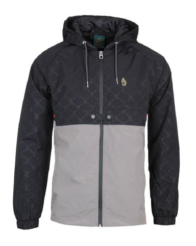 Luke Sport Bi Carbon Over Print Wind Breaker Jet Black