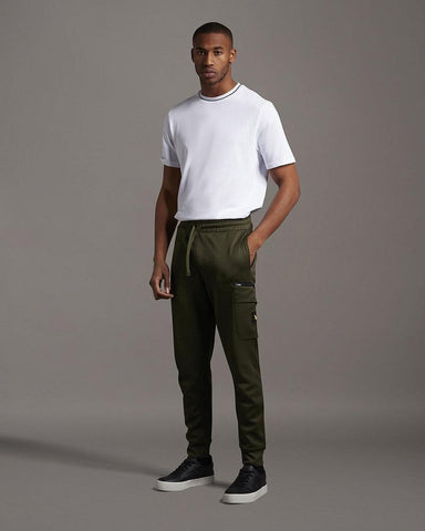 Lyle and Scott Casuals POCKET TRACKPANTS Trek Green